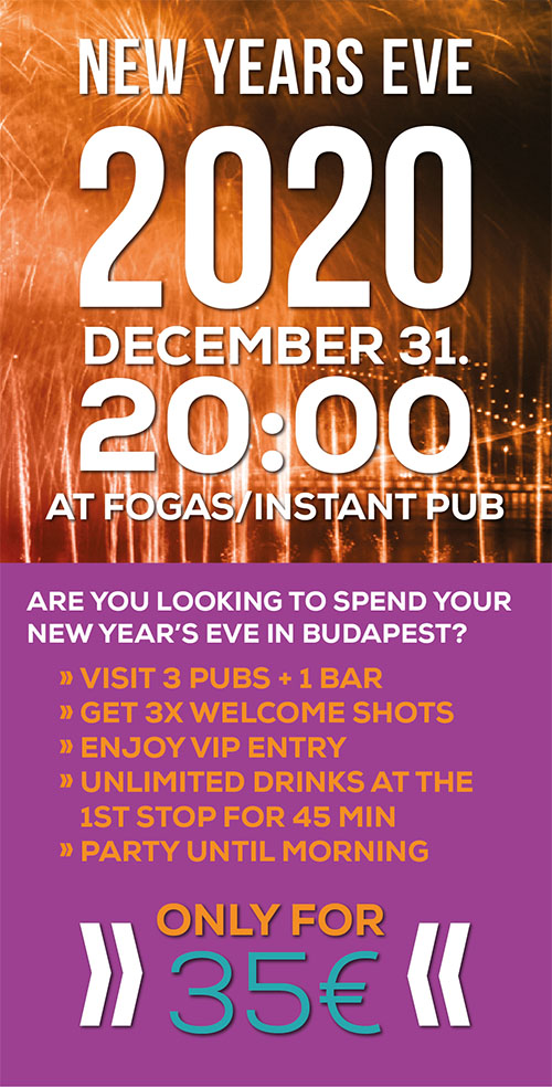 New Year's Eve Pub Crawl Details